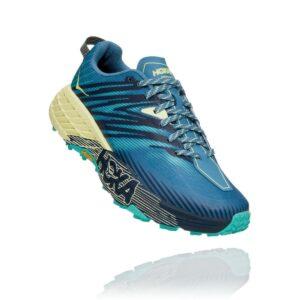 Hoka Speedgoat 4 - Scarpa donna - Provincial Blue/Luminary Green